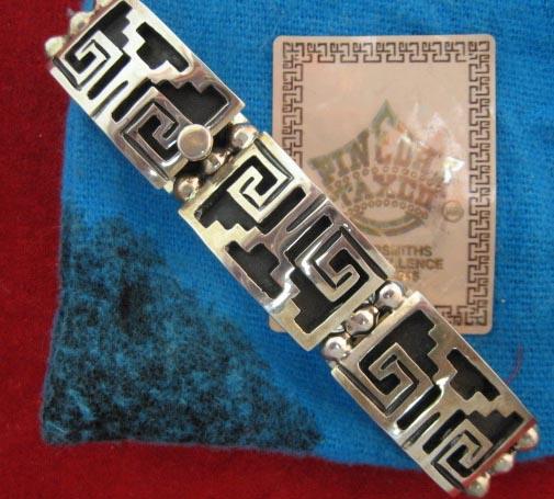 sterling taxco bracelet original pouch pinedas